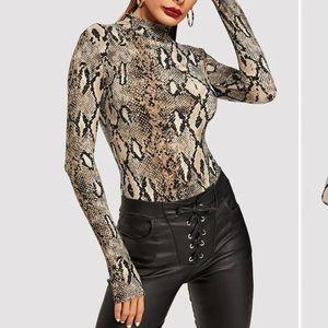 Snakeprint Bodysuit